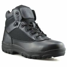 Mens New Leather Military Army Combat Walking Hiking Work Ankle Boots Shoes Size