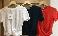 ZARA floral KNOT top SIZE S 6 8 M 10 RED blue WHITE BNWT