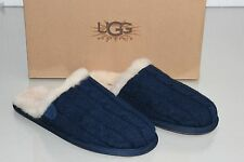 NEW UGG UGGS Australia Sweater Knit Scuffette Slipper SLIPPERS NAVY SHOES 5 36