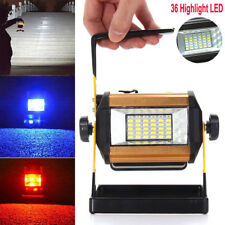 Rechargeable 50W 36LED Portable LED Flood Spot Work Light Camping Lamp 18650 New