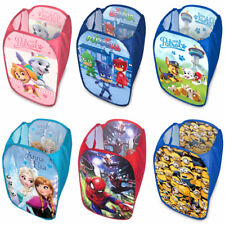 d83319fa92b75 Laundry Bag Toy Storage Pop Up Mesh Foldable Bin Hamper Kids Children Boys  Girls