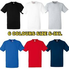 Liso Camiseta Hombre 100% Cotton Fruit Of The Loom Grueso Pequeño - 3xl