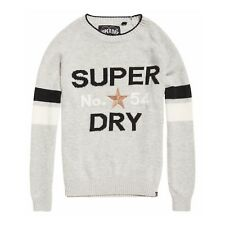 Suéter Superdry Varsity Intarsia Knit Ice Gris Marga