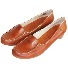 RRP £89 PIKOLINOS WOMENS COURT SHOES SLIP ON HEELS TAN FARBE LEATHER BRANDY UK 7