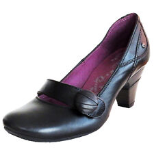 RRP £89 PIKOLINOS WOMENS COURT SHOES SLIP ON HEELS BLACK LEATHER FARBE  UK 3 - 9