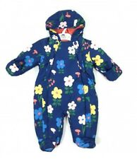 Ex M&S Baby Girls Navy Floral Flower Snowsuit All in One Age 3 6 9 12 18 24 £22