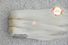 Wefted mohair Straight Doll hair Reroot light blonde Blythe BJD Waldorf goathair