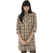 Fred Perry Womens Vintage Check Shirt Dress Chilli  8 UK