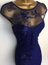 LIPSY Navy Flower Embroidery Applique Evening Party DRESS BNWT