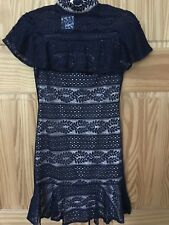 Womens Blue Dress Sizes 6 - 14 New Bodycon Lace Short Sleeveless Party Occasion