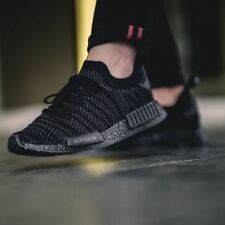 New adidas Originals Mens NMD_R1 STLT Primeknit Black Trainers RRP £149.99