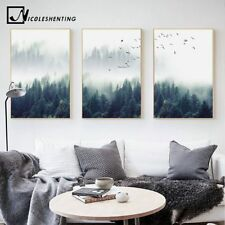 Forest Landscape Canvas Poster Print Painting Wall Art Scenery Picture Decors