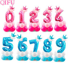 17Pcs Foil Balloons Air Helium Number Balloon Kids Birthday Party Decoration