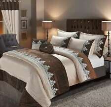 Luxurious Embroidered ALESSIA Design Duvet Quilt Cover Set And Accessories