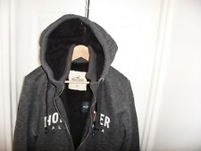 Mens Hollister by Abercrombie & Fitch Fur Sherpa Hoodie Jacket Size Medium