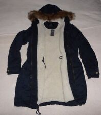 Womens Abercrombie & Fitch Fleece Fur Cozy Parka Hoodie Coats Jacket  M, L, XL,