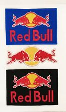 Red Bull Embroidered Logo Sports Sponsor Iron On Sew On Patch Badge New Quality