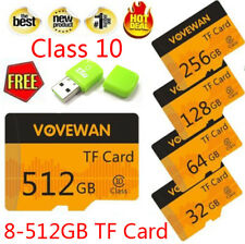Flash Micro SD Card 512GB 8-256GB Memory Card Reader Class 10 TF SD Card for MP4