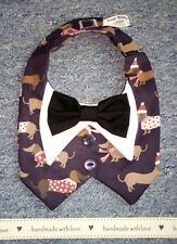 Handmade Christmas Tuxedo/Bowtie for Dachshund S/M/L ~ Wedding/Party/Ring Bearer