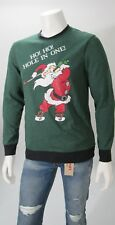 Ugly Christmas Sweater Fleece Men's Santa Golfing Hole In One Sz  L, XL NWT