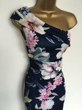 LIPSY Blue Pink Exotic Flower One shoulder Party DRESS BNWT special offer