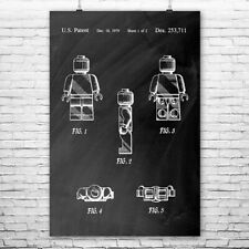 Toy Man Mini Figure Standing Poster Print Toy Patent Toy Man Patent Toy Gift