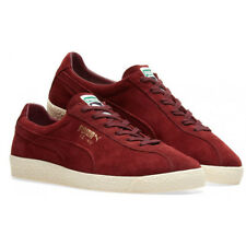 Puma Suede Mid Washed BRTS Mens Unisex Trainers Red Leather 354653 03 D22 7cd0f6b36292