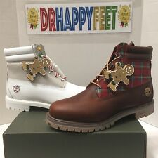 """Timberland Womens Sugar and Spice Holiday Premium 6"""" Inch Boots Brown / White"""