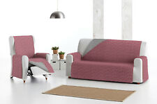 Funda reversible rojo/gris para sofa 1,2,3,4 plazas Eysa Mist sofa chais longue