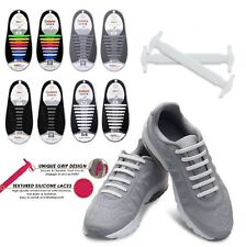 16Pcs Easy No Tie Shoelaces Elastic Silicone Flat Lazy Shoe Lace Strings Adult F