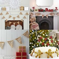 Noël vintage bunting garland shabby chic décoration east of india