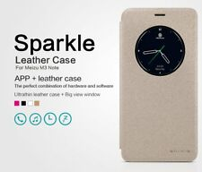 Nillkin Sparkle Faux Leather Flip Case Cover for Meizu M3 Note