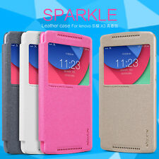 Nillkin Sparkle Faux Leather Flip Case Cover for Lenovo Vibe X3 Lite / K4 Note