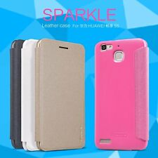 Nillkin Sparkle Faux Leather Flip Case Cover for Huawei Enjoy 5s