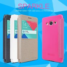 Nillkin Sparkle Faux Leather Flip Case Cover for Samsung Galaxy J3 Pro J3110