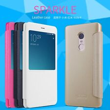 Nillkin Sparkle Faux Leather Flip Case Cover for Xiaomi Redmi Note 4