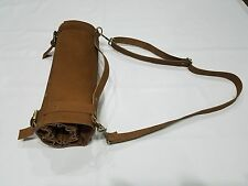 Chef Knives Vintage Tan Real Leather Genuine Bag/Pouch / Case/Roll 8 Pockets