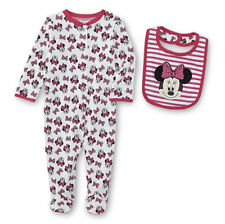 MSD Original Disney Minnie Mouse Overall Footed Suit with Bib