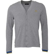 Fred Perry Mens Pique Cardigan Steel Marl  Medium  RRP 79.90