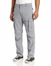 NEW MENS LEVIS RELAXED FIT ACE CARGO PANTS MONUMENT LIGHT GRAY 124620016