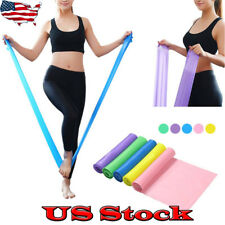 Elastic Yoga Pilates Rubber Stretch Resistance Exercise Fitness Band Belt 1.5m