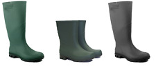 Town & Country Ladies Mens Black Green Wellies Gardening Boots Wellington