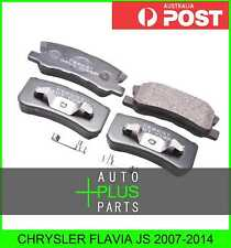 Fits CHRYSLER FLAVIA JS Brake Pads Disc Brake (Rear)