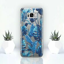 Leaves Samsung S7 S6 Edge Cover Blue Tropical Samsung A3 A9 Case Samsung S10e