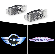 CREE LED MINI JCW PROJECTOR CAR DOOR LIGHTS SHADOW LAMP PUDDLE COURTESY LOGO