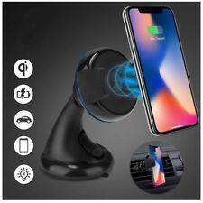 2 in 1 Qi Wireless Car Charger Mount Holder iPhone XSMAX XR 8 Samsung S9+ N9 lot