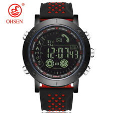OHSEN Men Pedometer Sport Watch LED Digital Bluetoonth Watches for iOS Android