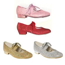 bd4f5bab0 NEW TAPPERS AND POINTERS GIRLS LADIES GLITTER HOLOGRAM TAP DANCE DANCING  SHOES