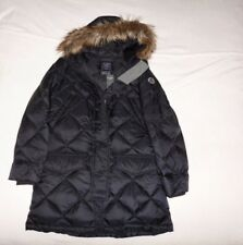 Womens Abercrombie & Fitch Water Resistant Hoodie Quilted Down Jacket Size M, L,