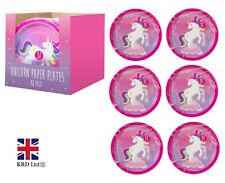 MAGICAL UNICORN PAPER PLATES Kids Birthday Party Tableware Pony Decorations UK